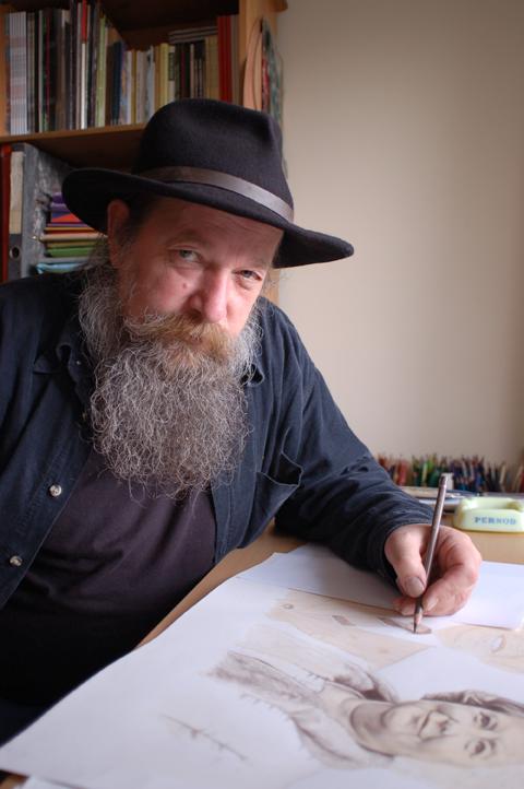 Joe Boske, Artist, Clifden Connemara 2006